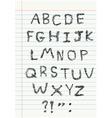 Scribble alphabet on notebook vector