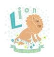 Letter l - lion vector