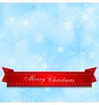 Light shiny blue background with red ribbon vector