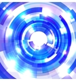 Shining blue circle tunnel vector
