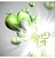 Saint patricks day label vector