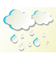 Paper cutout weather icons vector