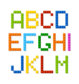 Plastic construction blocks alphabet vector