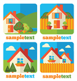 Little homes icons vector
