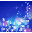 Abstract winter blue background with snowflakes vector