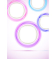 Vertical background with colorful falling circles vector