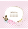 Cute baby shower invitation scrapbook template vector