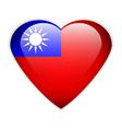 Republic of china flag button vector