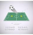 Live score on soccer yard vector