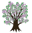 Tree with blossom and leaves vector