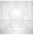 Mosque outline for ramadan vector