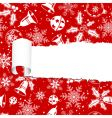 Torn christmas paper vector