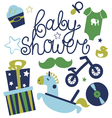 Baby shower for boy vector