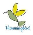 Abstract outline hummingbird symbol vector