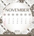 2014 calendar vintage calendar template for vector