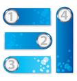 Blue text box vector