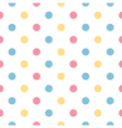 Colorful polka dot pattern in pastel colors vector