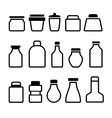 Jar icons set black silhouette on white background vector