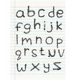 Lower case scribble alphabet o vector