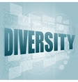 Pixelated words diversity on digital screen - vector