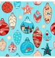 Christmas hand-drawn pattern with balls vector