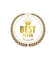 Luxury golden premium quality best choice labels vector