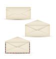 Open vintage long envelope vector