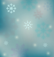 Holiday winter background with snowflakes - vector