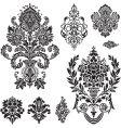 damask ornament set vector