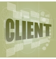 Word client on digital screen business concept vector