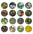 Big set of balls with print patterns vector