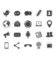 Media communication icons vector