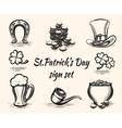 Hand drawn st patricks day signs vector