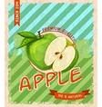 Apple retro poster vector