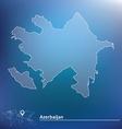 Map of azerbaijan vector