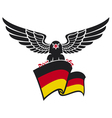 Black eagle with the german flag vector