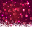 Christmas glowing background with snowflakes - vector