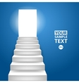 Staircase to up conceptual background to vector
