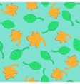 Leaf fall seamless pattern vector