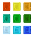 Set gemstones vector