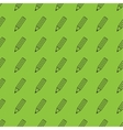 Flat pencil seamless pattern vector