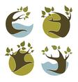 Nature emblems vector
