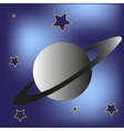 Saturn planet and stars vector