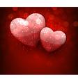 Valentines red background vector