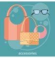 Womens fashion accessories vector