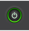 Glossy dark circle power button vector