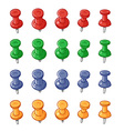 Set of push pins vector