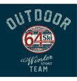 Saint moritz winter ski team vector