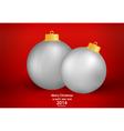 Merry christmas greeting card with christmas ball vector