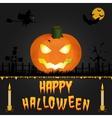Happy halloween card art vector